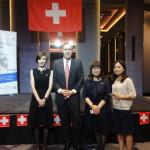 2015年8月1日林肯舉辦瑞士國慶日與商務辦事處副代表及秘書合影